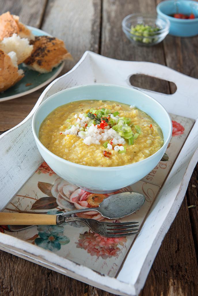 Vegan Crab Corn Chowder