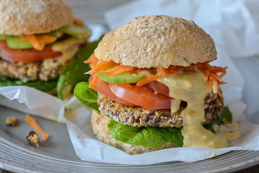 Gourmet Adzuki Bean Burger Sliders